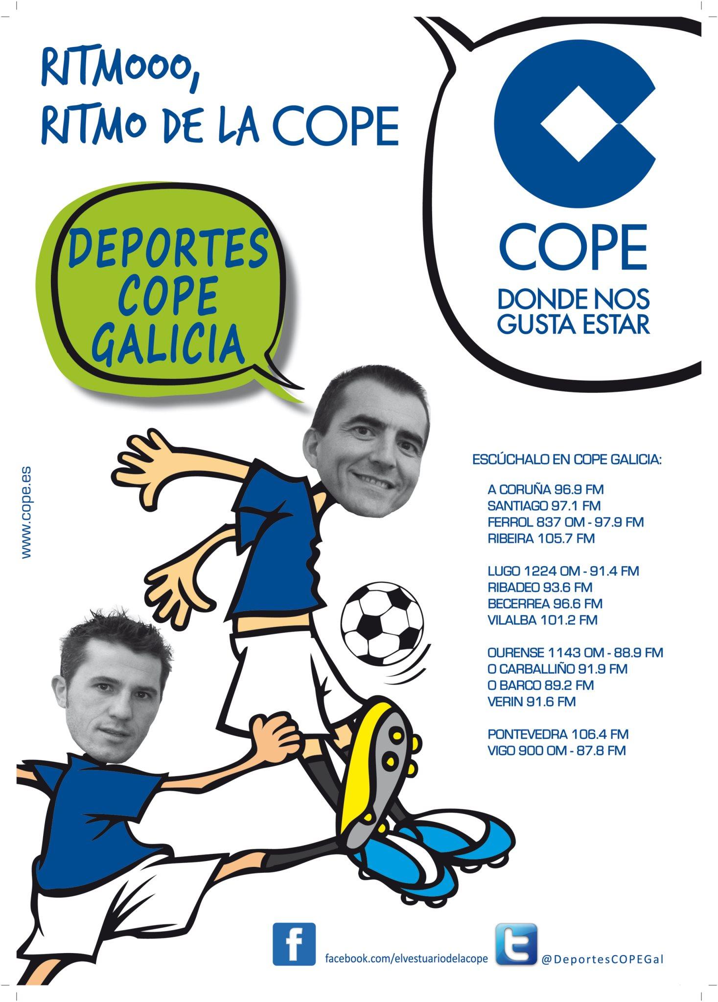 Deportes Cope Galicia (de lunes a viernes y de 15:10 a 16:00 h.)